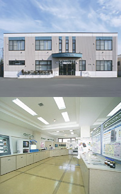 (写真上)リサイクル資料館 (写真下)資料館展示室